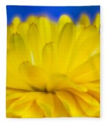 Yellow Petal Explosion Fleece Blanket