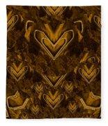 Yellow Pop Art Hearts Fleece Blanket