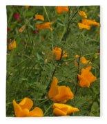 Yellow Poppies Dsc07460 Fleece Blanket