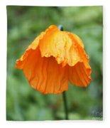 Yellow Poppy - Morning Dew Fleece Blanket