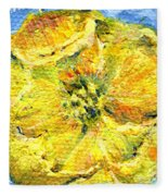 Yellow Poppy Fleece Blanket