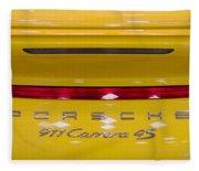 yellow Porsche Fleece Blanket