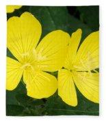 Yellow Primrose Fleece Blanket