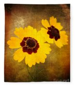 Yellow Prize Fleece Blanket