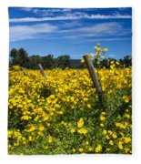 Yellow Profusion Fleece Blanket