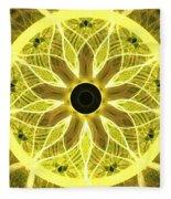 Yellow Rays Fleece Blanket