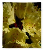 Yellow Rhododendron Fleece Blanket