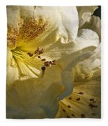 Yellow Rhododendron Fleece Blanket
