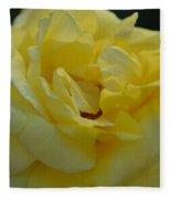 Yellow Rose Frills Fleece Blanket