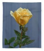Yellow Rose Greeting Card Fleece Blanket