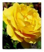 Yellow Rose IIi Fleece Blanket