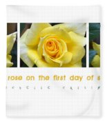 Yellow Rose On The First Day Of Summer Fleece Blanket