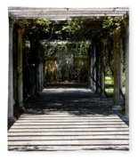 Yellow Rose Pergola Fleece Blanket
