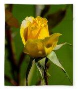 Yellow Rose Fleece Blanket