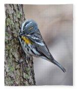 Yellow-rump Warbler Fleece Blanket