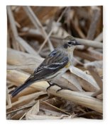 Yellow-rumped Warbler Fleece Blanket