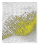Yellow Seashell Fleece Blanket