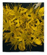 Yellow Sedum Fleece Blanket