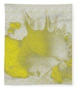 Yellow Shell Fleece Blanket