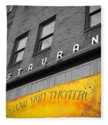 Yellow Sign Theatre Fleece Blanket