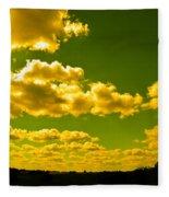 Yellow Skies Fleece Blanket