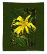 Yellow Spider Lily 21 Fleece Blanket