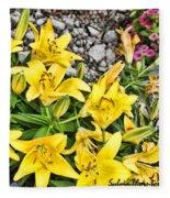 Yellow Spring Fleece Blanket