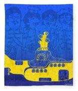 Yellow Submarine Fleece Blanket