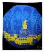 Yellow Submarine Baseball Square Fleece Blanket