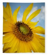 Yellow Sunflower Fleece Blanket
