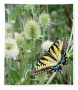 Yellow Swallowtail Butterfly Fleece Blanket