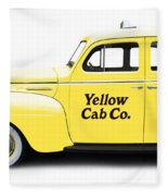 Yellow Taxi Cab Fleece Blanket