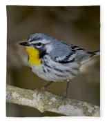 Yellow-throated Warbler Fleece Blanket