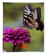 Yellow Tiger Swallowtail Butterfly Fleece Blanket