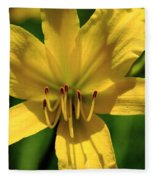 Yellow Too Lily Flower Art Fleece Blanket