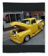 Yellow Truck Fleece Blanket