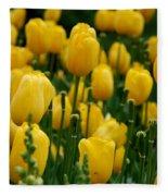 Yellow Tulip Sea Fleece Blanket