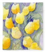 Yellow Tulips 1 Fleece Blanket