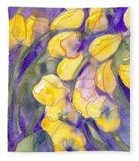 Yellow Tulips 3 Fleece Blanket
