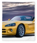 Yellow Viper Convertible Fleece Blanket
