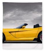 Yellow Viper Roadster Fleece Blanket