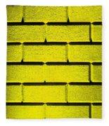 Yellow Wall Fleece Blanket