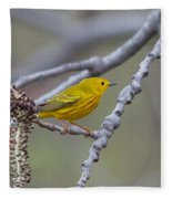 Yellow Warbler Fleece Blanket