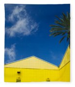 Yellow Warehouse Fleece Blanket