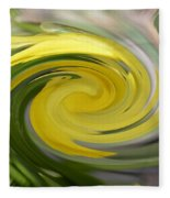 Yellow Whirlpool Fleece Blanket