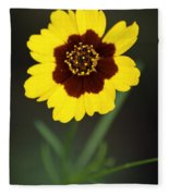 Yellow Wild Flower Fleece Blanket