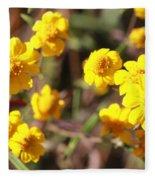 Yellow Wild Flowers Fleece Blanket