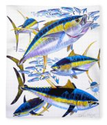 Yellowfin Run Fleece Blanket