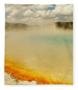 Yellowstone Hot Springs Fleece Blanket