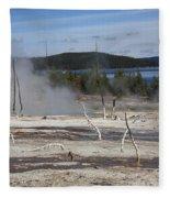 Yellowstone National Park - Hot Springs Fleece Blanket